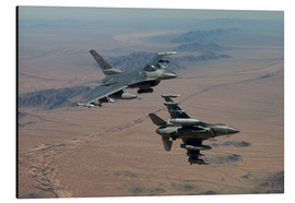 Aluminium print  Two F16 on a training mission - HIGH-G Productions