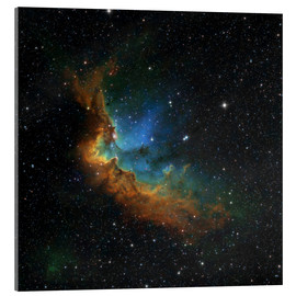 Acrylic print  NGC 7380 in the Hubble palette colors - Rolf Geissinger