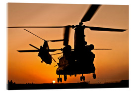 Acrylic print  Two Royal Air Force CH-47 Chinooks - Stocktrek Images
