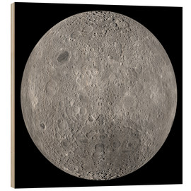 Wood print  The Far Side of the Moon - Stocktrek Images