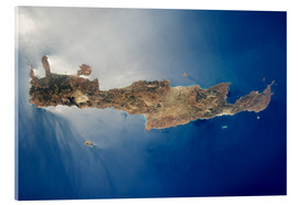 Acrylic glass  View from space of the island of Crete - Stocktrek Images