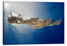 Canvas  View from space of the island of Crete - Stocktrek Images