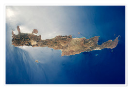 Premium poster  View from space of the island of Crete - Stocktrek Images