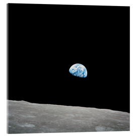 Acrylic glass  Earth seen from the Moon - Stocktrek Images