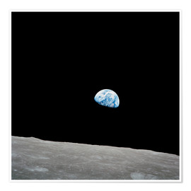 Stocktrek Images - Earth seen from the Moon