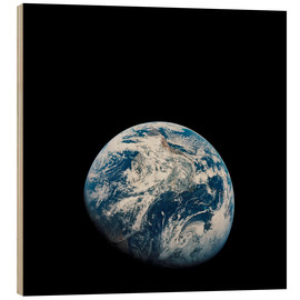Wood print  Earth from the viewpoint of Apollo 8 - Stocktrek Images