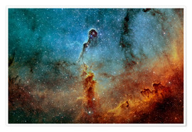 Premium poster The Elephant Trunk Nebula