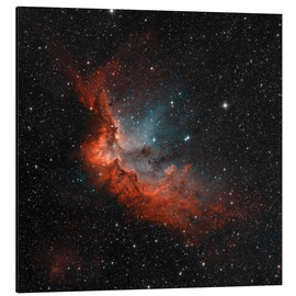 Aluminium print  NGC 7380 in true colors. - Rolf Geissinger
