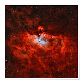 Premium poster The Eagle Nebula in the constellation Serpens