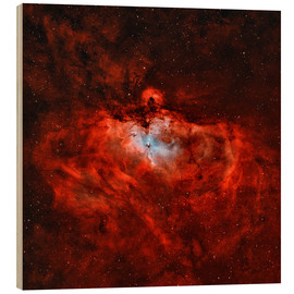 Wood print  The Eagle Nebula in the constellation Serpens - Rolf Geissinger