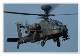 Premium poster A U.S. Army AH-64 Apache helicopter.