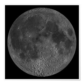 Premium poster Mosaic of the lunar nearside