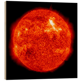 Wood print  Solar flare on the Sun's surface - Stocktrek Images