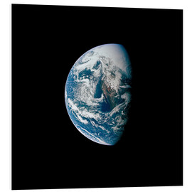 Foam board print  View of the Earth from the spacecraft Apollo 13 - Stocktrek Images