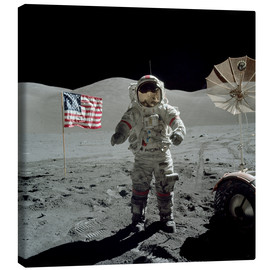 Canvas print  Astronaut on the moon - Stocktrek Images