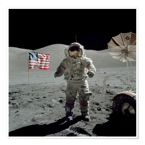 Premium poster Astronaut on the moon