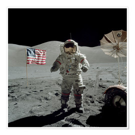 Premium poster  Astronaut on the moon - Stocktrek Images