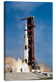 Canvas  Apollo 11 space vehicle taking off from Kennedy Space Center - Stocktrek Images