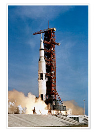 Premium poster Apollo 11 taking off from Kennedy Space Center