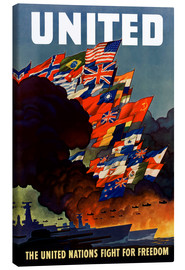 Canvas  War propaganda poster in the 2nd World War - John Parrot