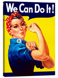 Canvas print  Rosie The Riveter vintage war poster from World War Two - John Parrot