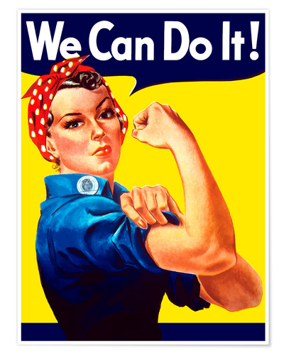 Premium poster Rosie The Riveter vintage war poster from World War Two