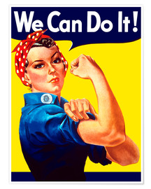 Poster Rosie The Riveter vintage war poster from World War Two