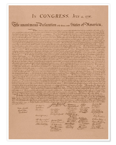 Premium poster United States Declaration of Independence