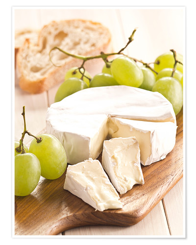 Premium poster French soft cheese