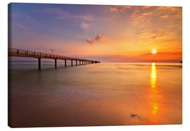 Canvas  Sunrise Binz pier - Marcus Klepper