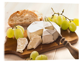 Acrylic print  Cheese and grapes - Edith Albuschat