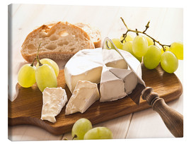 Canvas  Cheese and grapes - Edith Albuschat