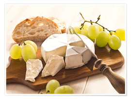 Premium poster  Cheese and grapes - Edith Albuschat