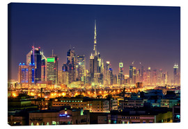 Canvas print  Dubai skyline at night - Stefan Becker