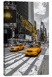 Canvas print  Yellow cabs on Time Square 2 - Hannes Cmarits