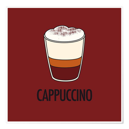 Premium poster Cappuccino, for the italian lover in you!