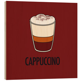 Wood print  Cappuccino, for the italian lover in you! - JASMIN!