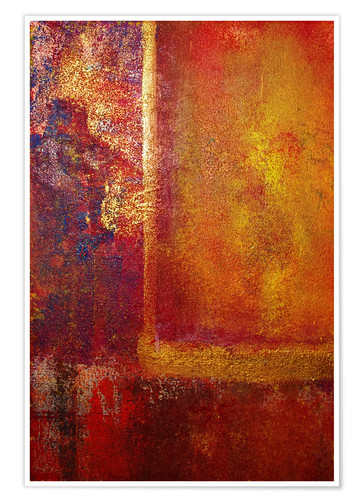 Premium poster Color Fields 'Red Orange Yellow Gold'