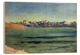 Wood print  Sunrise Over Mont Blanc - Ferdinand Hodler