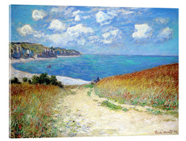 Acrylic glass  Path through the Wheat at Pourville - Claude Monet