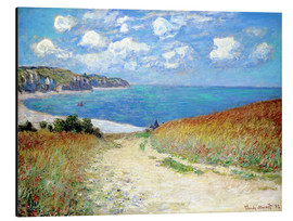 Aluminium print  Path through the Wheat at Pourville - Claude Monet