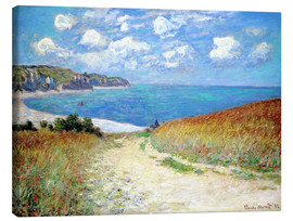 Canvas print  Path through the Wheat at Pourville - Claude Monet