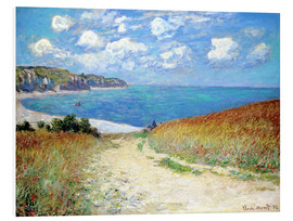 Foam board print  Path through the Wheat at Pourville - Claude Monet