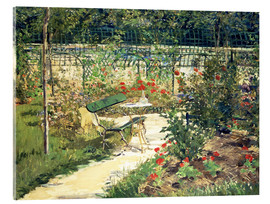 Acrylic print  The Bench in the Garden of Versailles - Edouard Manet