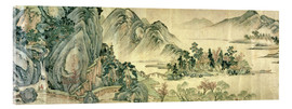 Acrylic print  The peach blossom in spring - Wen Zhengming