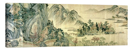 Canvas print  The peach blossom in spring - Wen Zhengming
