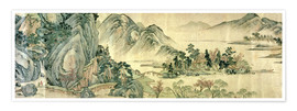 Premium poster  The peach blossom in spring - Wen Zhengming