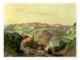 Premium poster  View of Jerusalem - Friedrich Perlberg