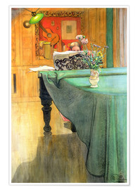 Poster  Brita at the Piano - Carl Larsson