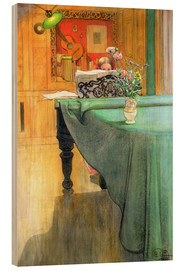 Wood print  Brita at the Piano - Carl Larsson